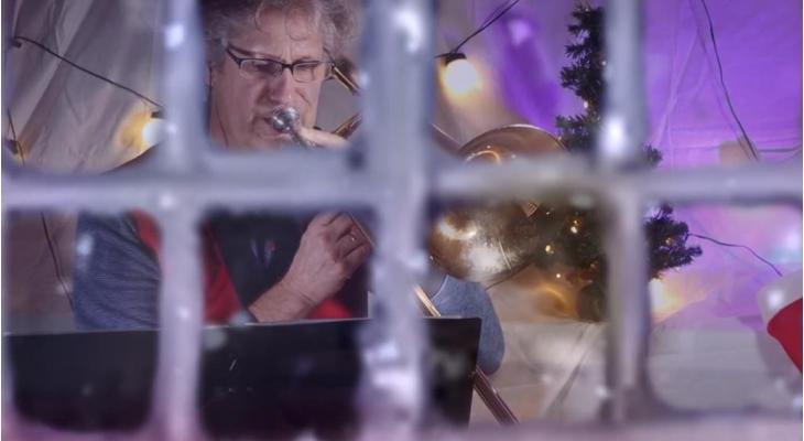 Winterse videoproductie van het Nederlands Brandweerorkest