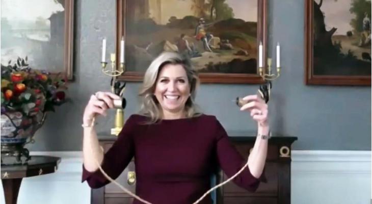 Koningin Máxima 'schakelt' muziekles voor 59.000 kinderen 'aan'