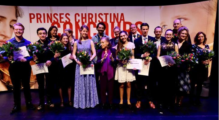 Celliste Mare, violist Enzo en slagwerker Kalina winnen Prinses Christina Concours