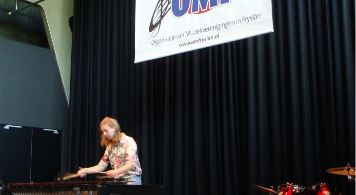 Brigitte Tabak (marimba) wint De Klank & Slach fan Fryslân