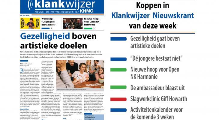 KNMO Klankwijzer Nieuwskrant met actuele onderwerpen