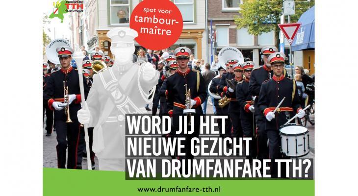 Drumfanfare TTH op zoek naar tambour-maître