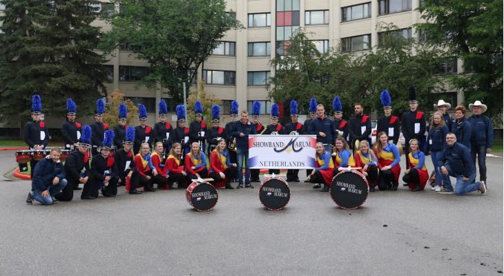 Zesde plek voor Showband Marum op WK in Canada