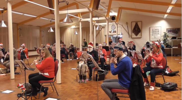 Kerstgroet van Harmonie Soli Velsen