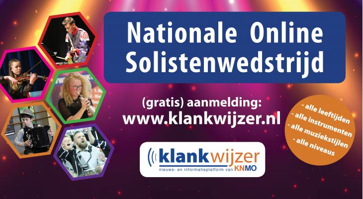 Nationale Online Open Solistenwedstrijd is geopend