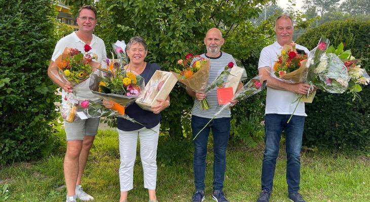 Emergo Castricum huldigt jubilarissen