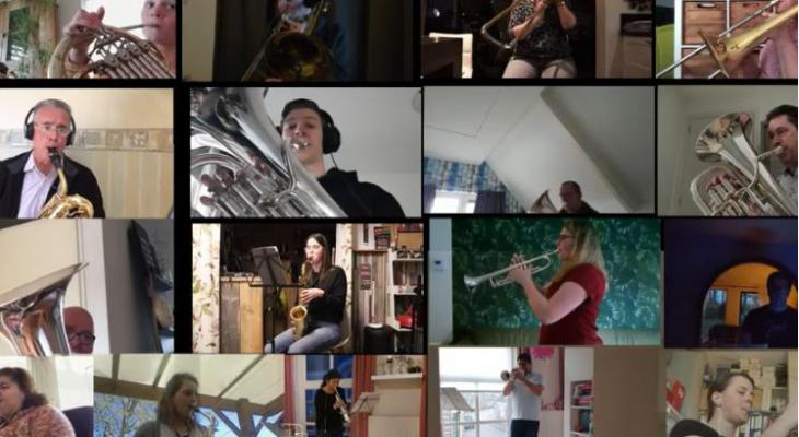 Corona maakt muzikale vrienden op 250 kilometer afstand