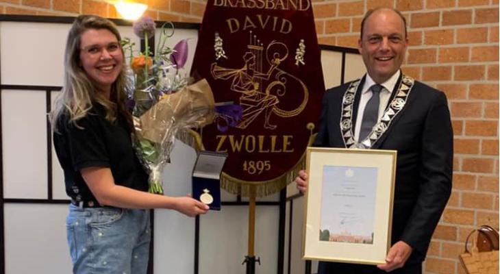 Koninklijke Erepenning voor David Zwolle