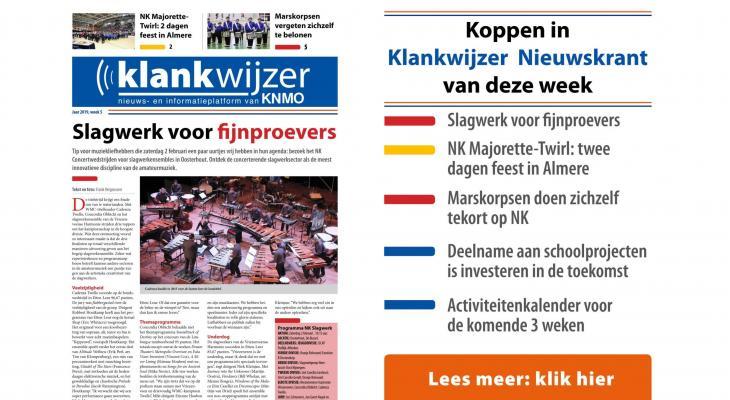 Nieuwe nieuwskrant van KNMO Klankwijzer staat online