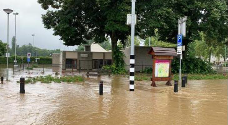 Valkenburgse harmonie gedupeerd door overstroming