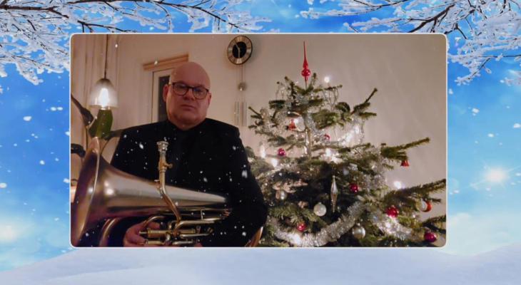 Winterse kerstgroet van Sempre Crescendo Middelharnis-Sommelsdijk