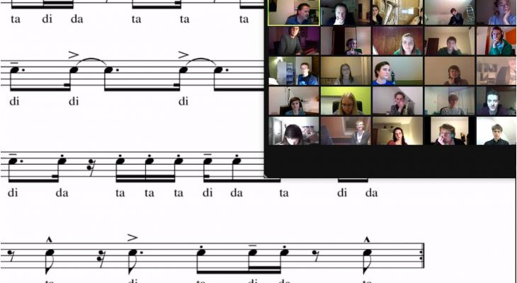 Onlinerepetitie/-workshop met als thema lichte ritmiek