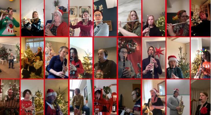 Gruno's Postharmonie met blieft toes met Kerstmis