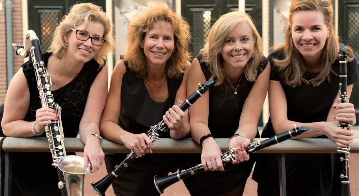 Marlimasa klarinetkwartet speelt in HRFSTWND