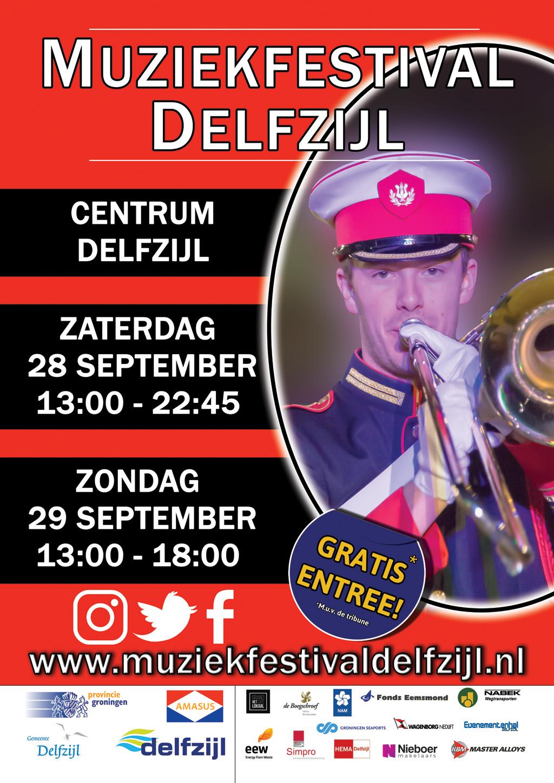 Muziekfeest Delfzijl plaatsen van 16 sept- 23 sep