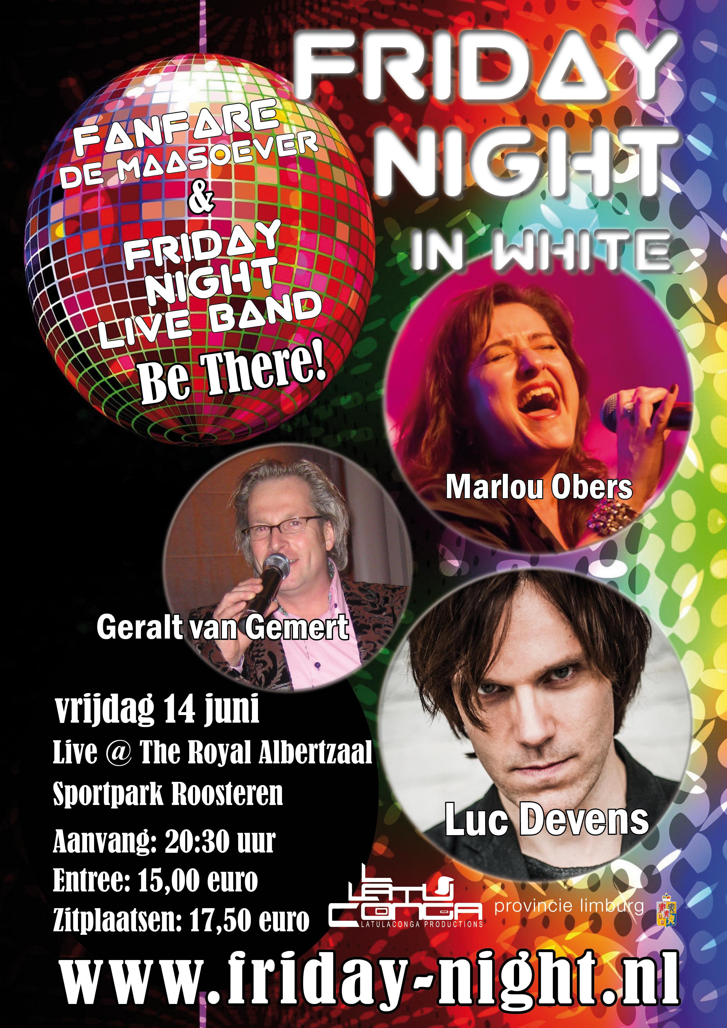 Friday Night Roosteren 6 mei 14 juni twee wekelijks