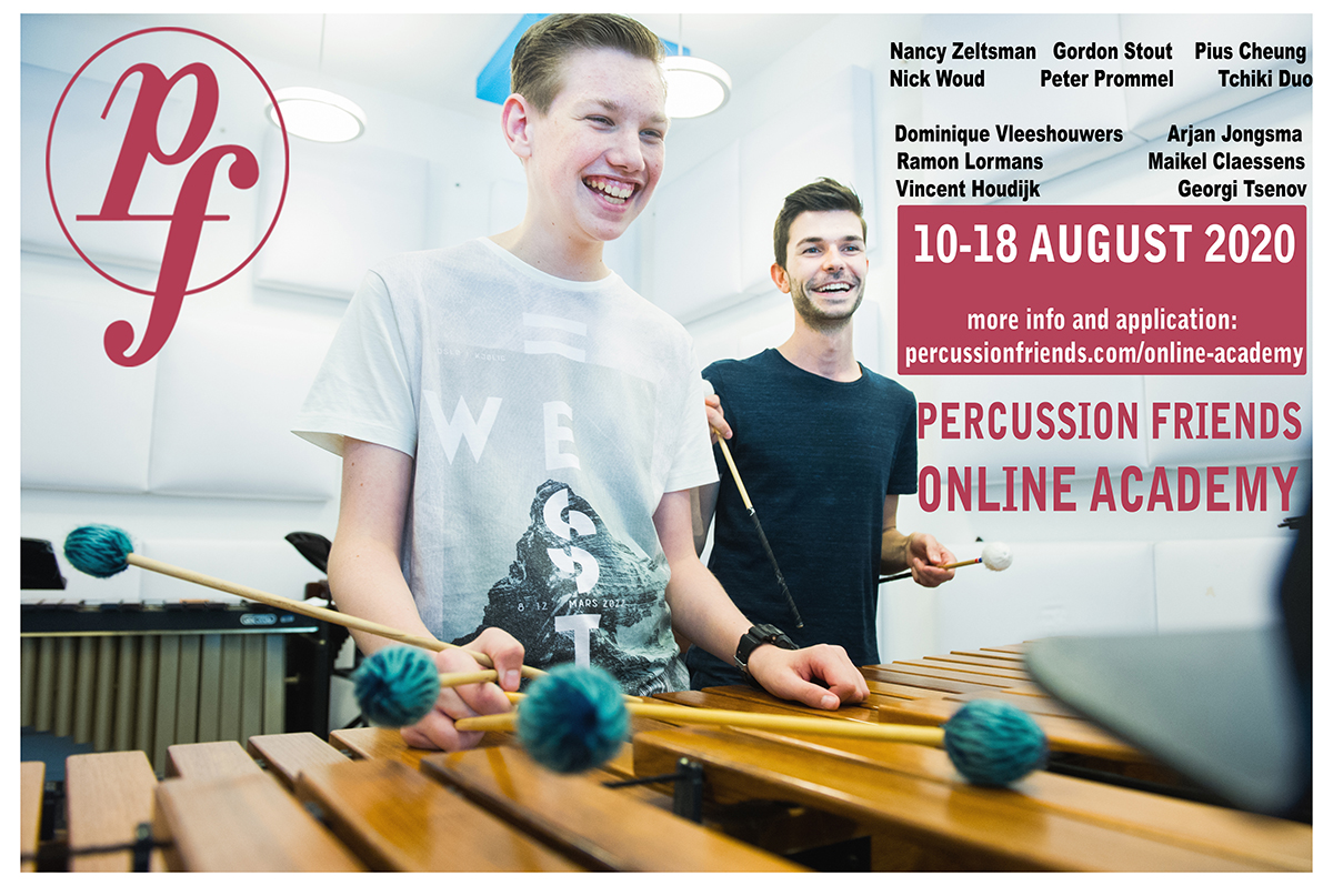 Percussion Friends t/m 31 juli