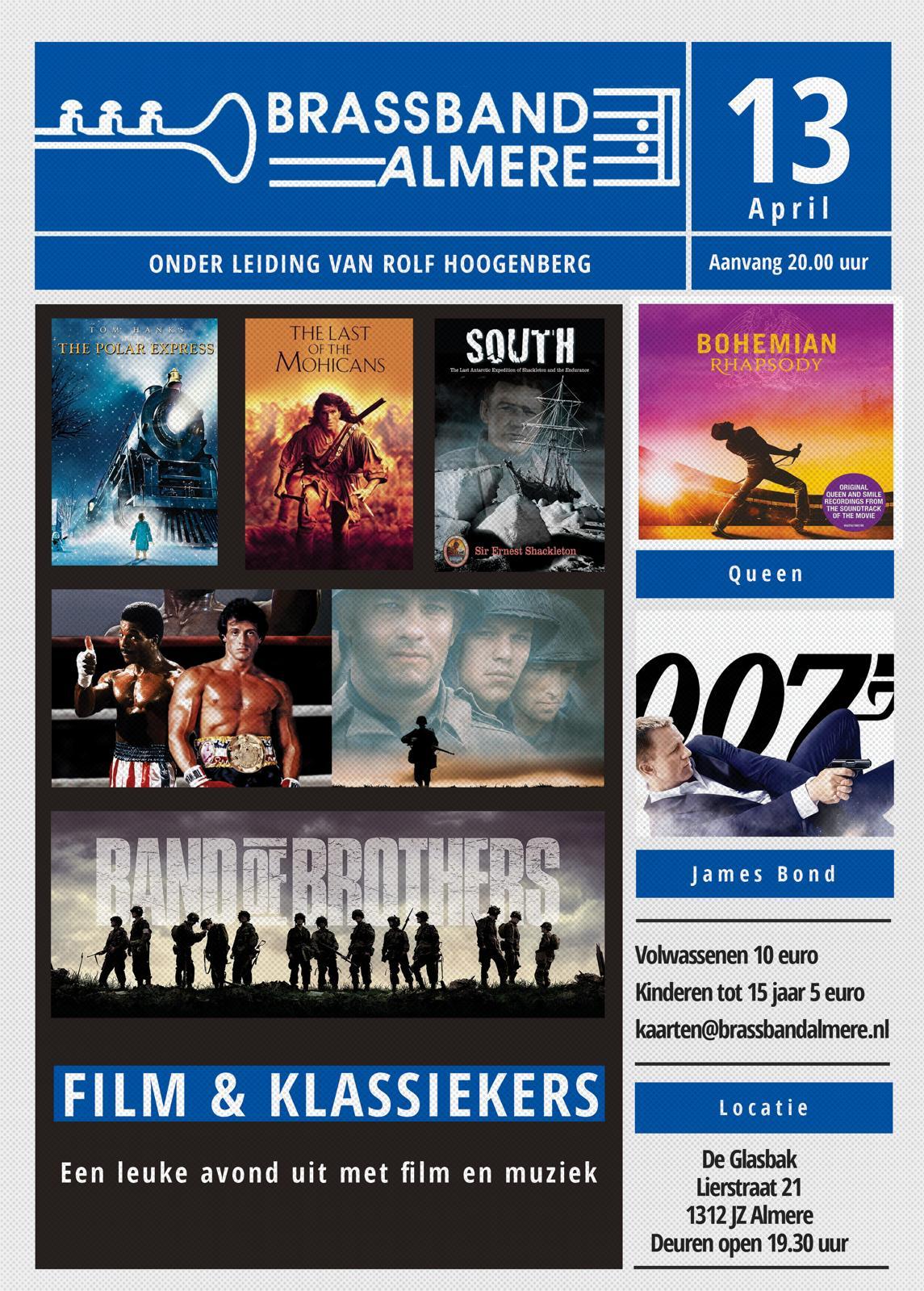 Brassband Almere plaatsen wkn 13, 14 en 15 einddatum 13 april