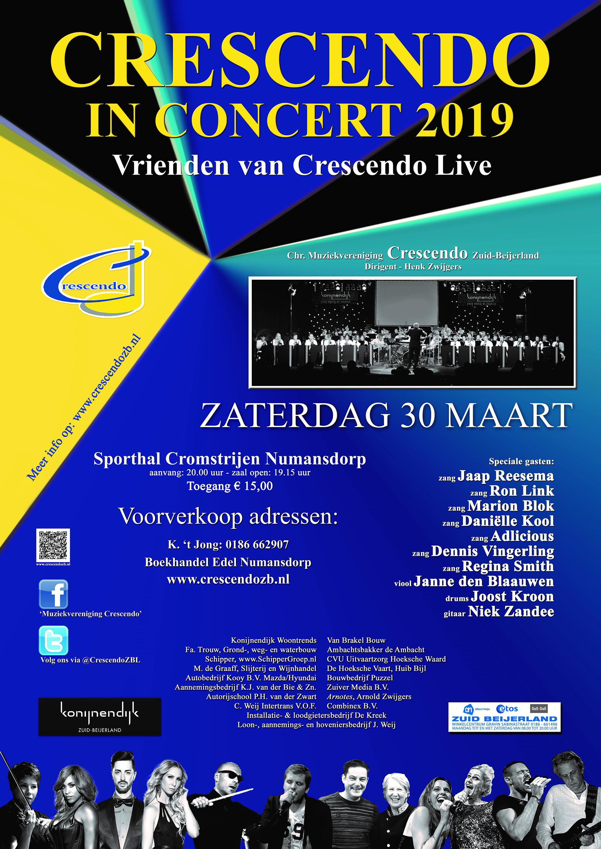 Vrienden van Crescendo Numansdorp 17-24 maart