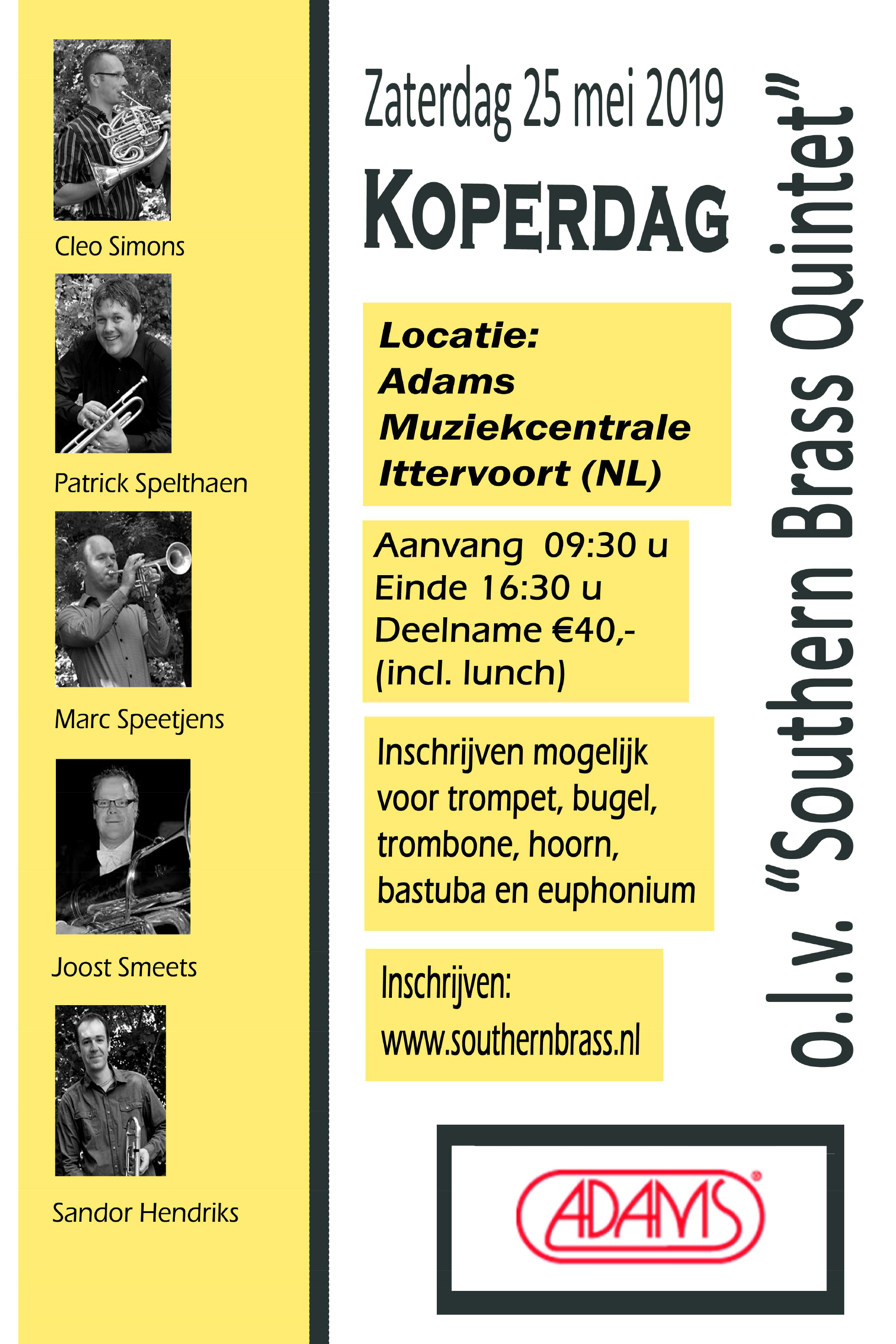 Workshop Southern Brass 25 mei