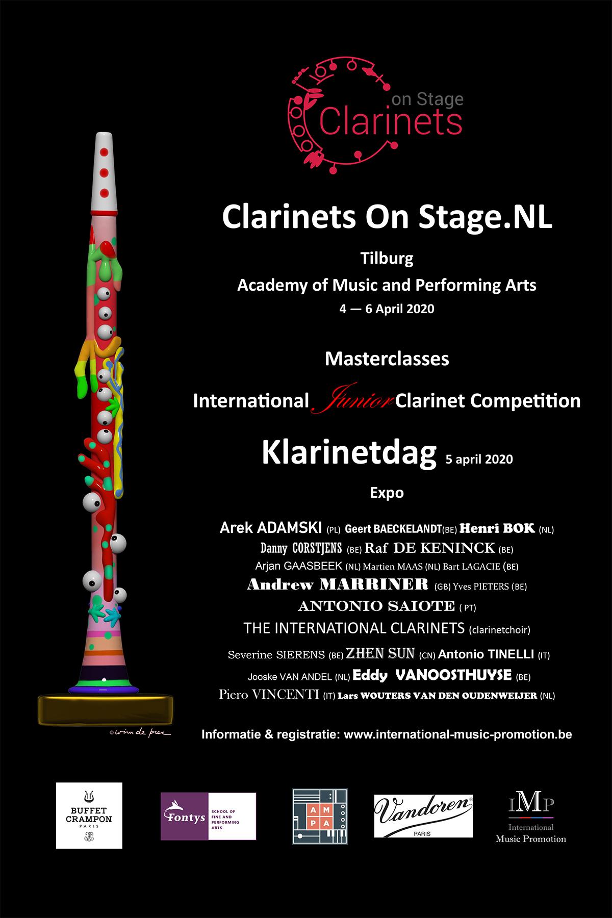 Klarinet on stage Tilburg 4 april