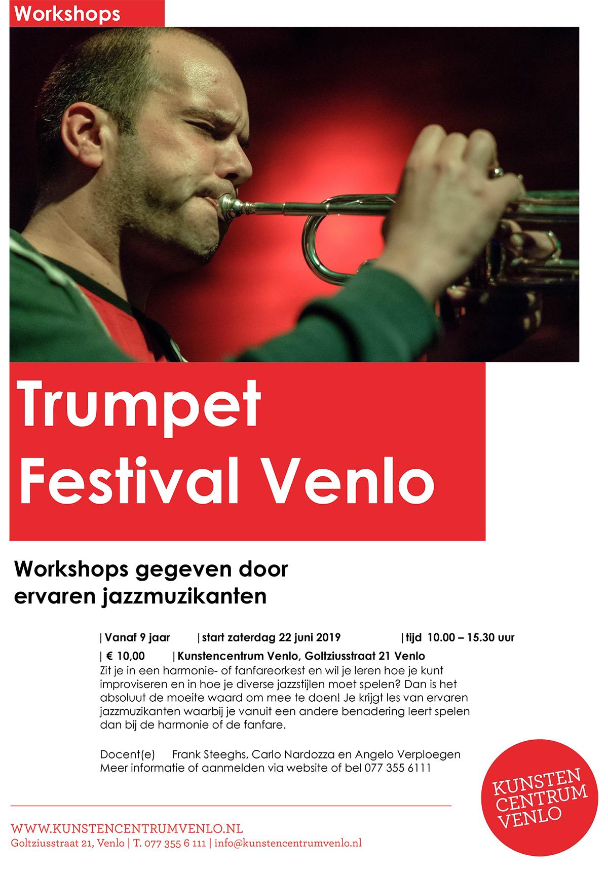 Trumpet Festival Venlo workshops tot 22 juni