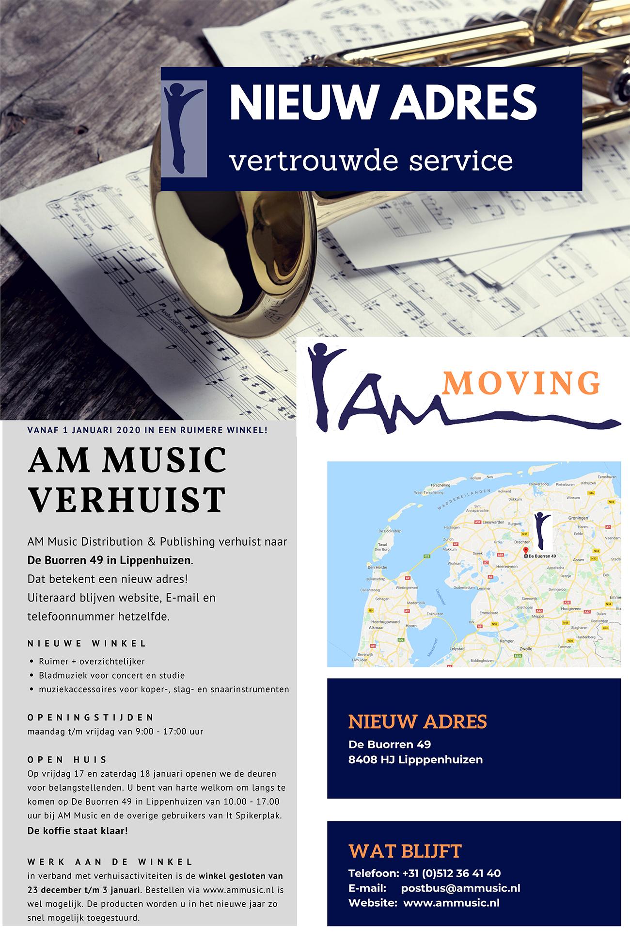 ¼ Verhuizing AM Music