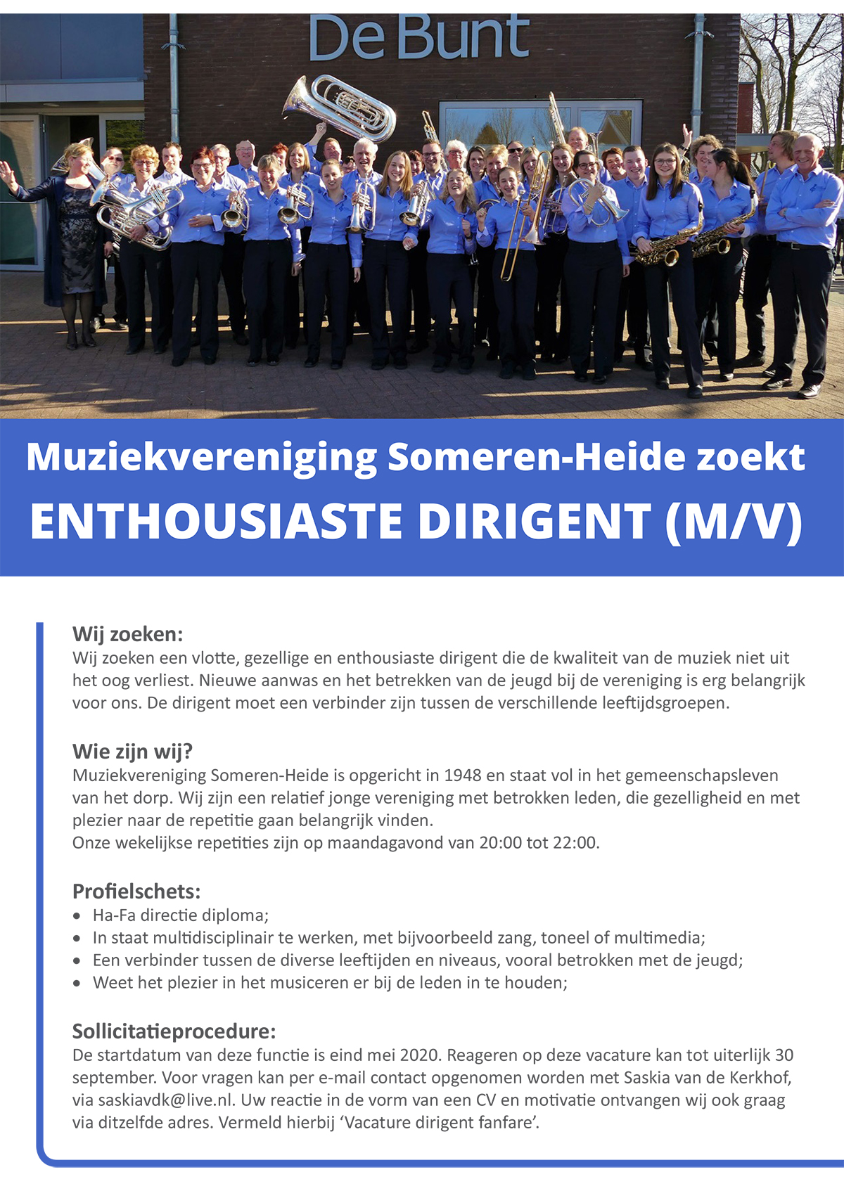 Vacature Someren-Heide tot 25 september