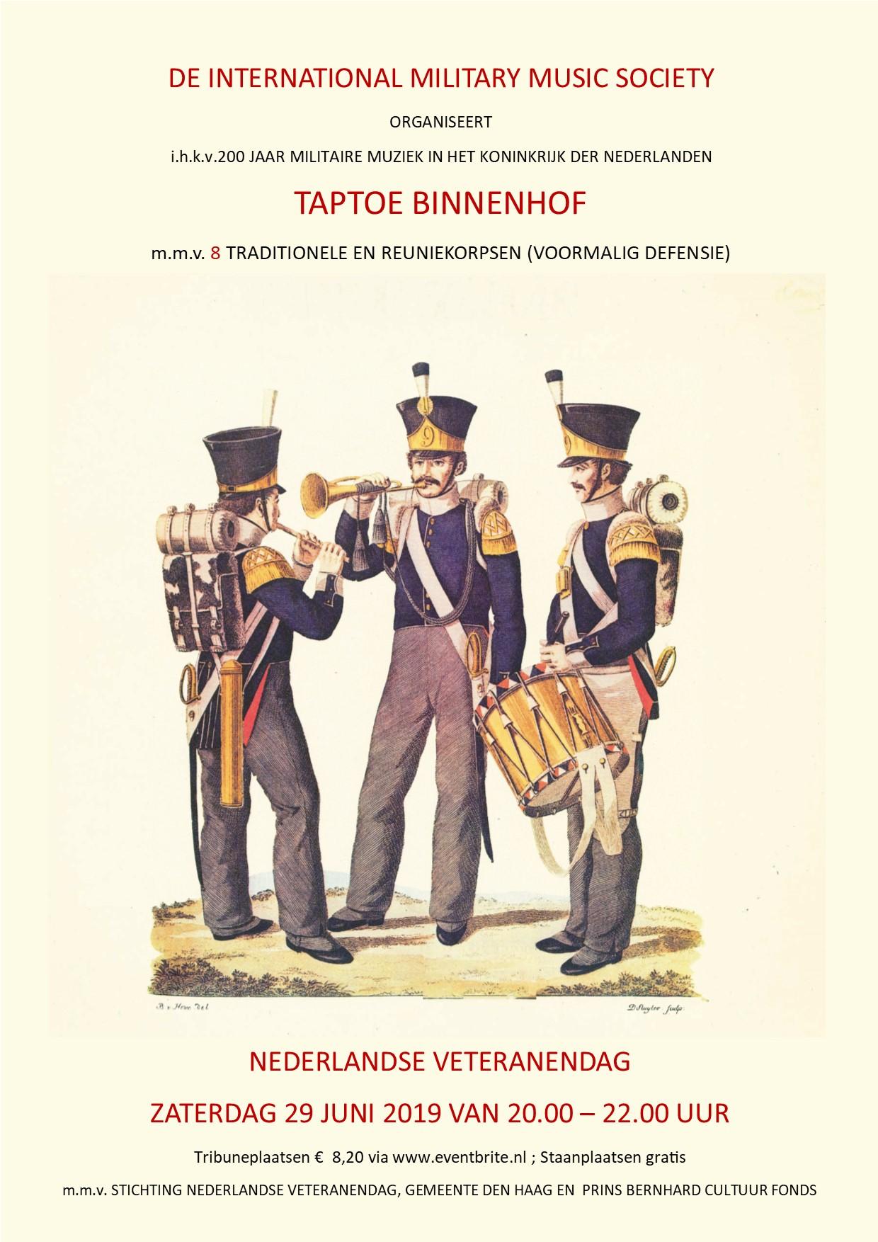 Taptoe Binnenhof Den Haag 7 juni - 29 juni
