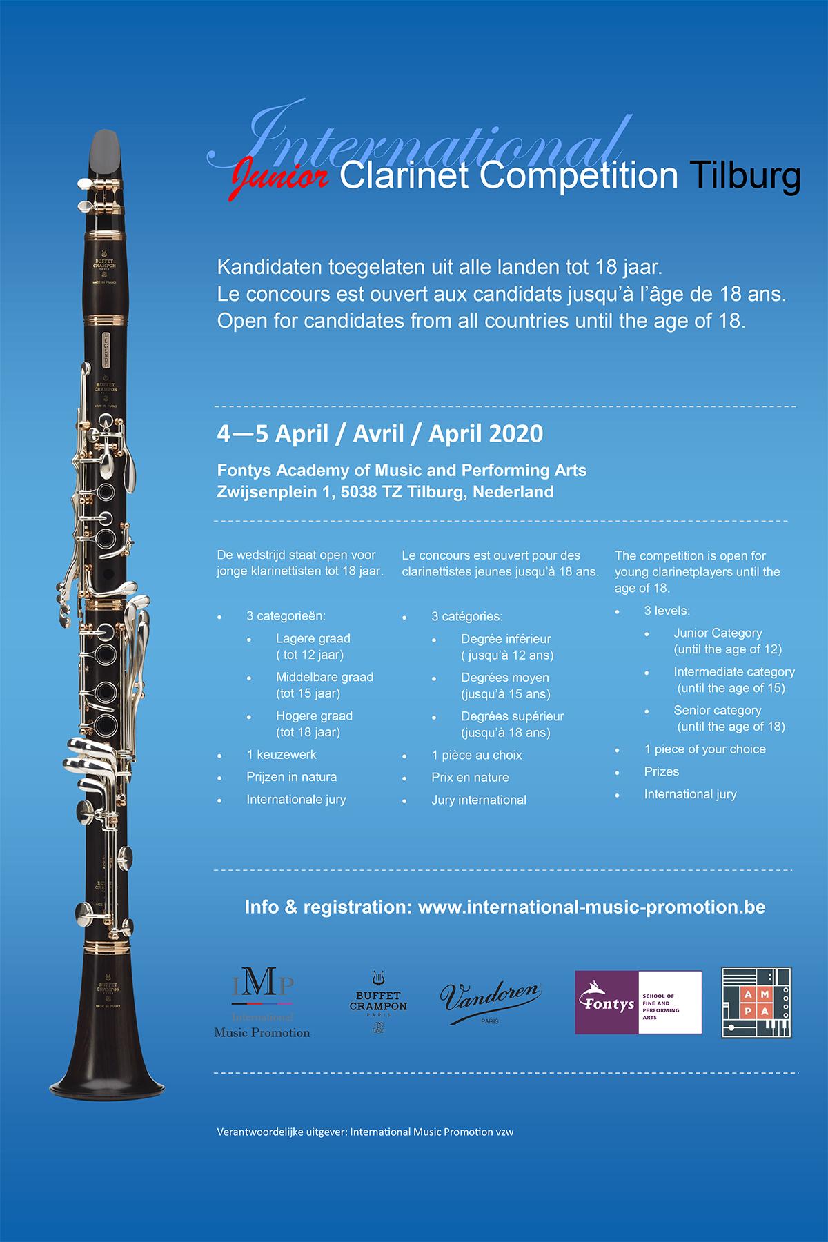 Klarinetwedstrijd Tilburg tot 4 april