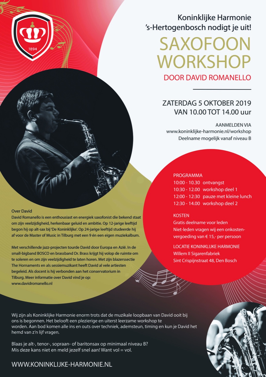 Koninklijke Harmonie Den Bosch workshop 5 oktober