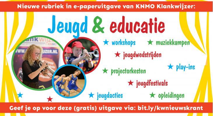 KNMO Klankwijzer start rubriek Jeugd & Educatie