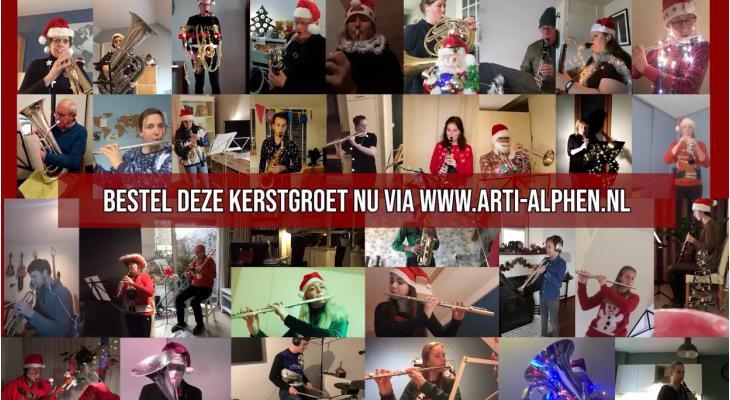 Harmonie Arti Alphen brengt digitale kerstgroeten