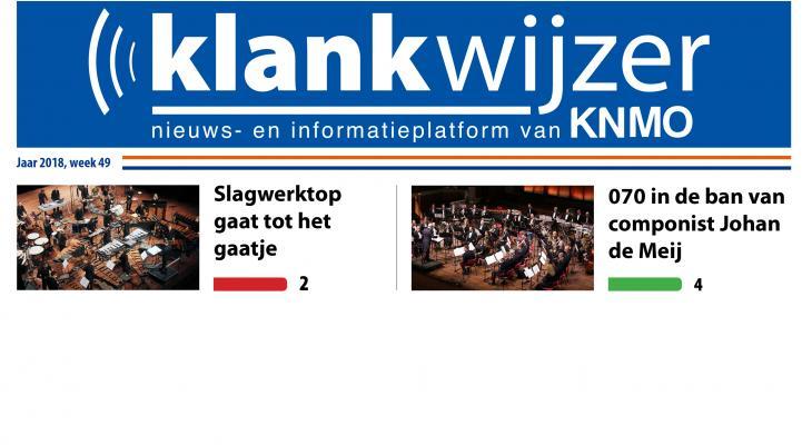 Digitale nieuwskrant blikvanger van KNMO Klankwijzer