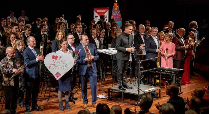 Benefietconcert Muziek uit het hart levert ruim 25 mille op
