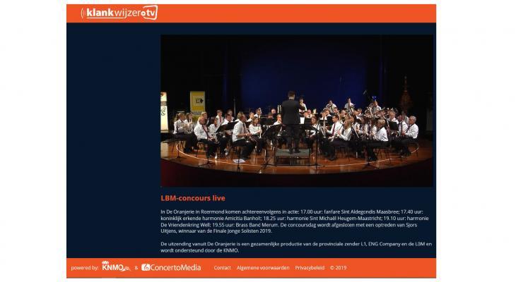 Concertconcours LBM vanmiddag live op Klankwijzer.tv