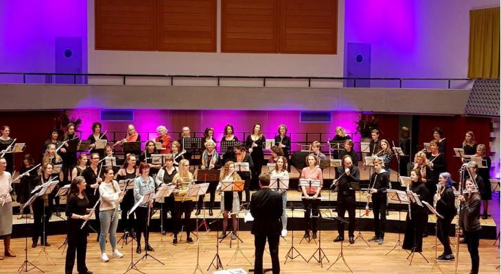Combiconcert Neflac met 80 fluitisten uit de regio Arnhem