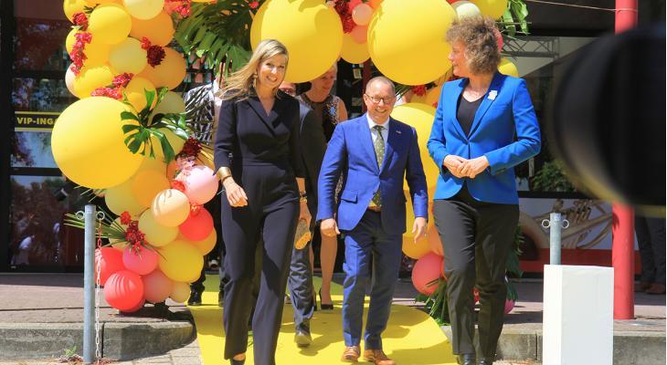 Koningin Máxima bij ondertekening Muziekakkoord Drenthe