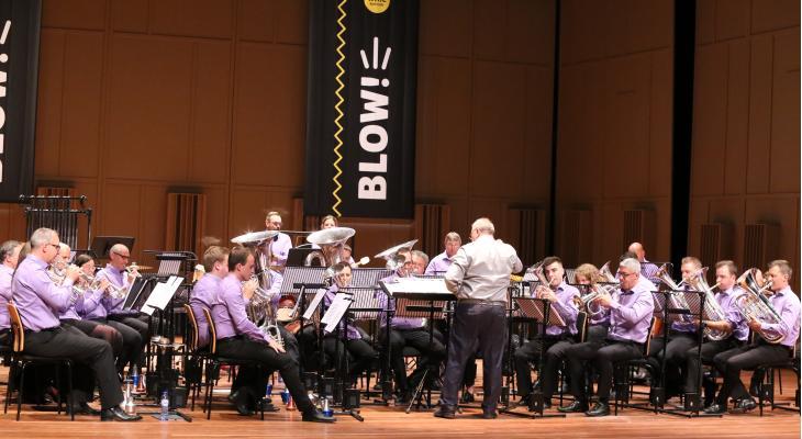 Belgische brassbandkampioenschappen met zestien bands