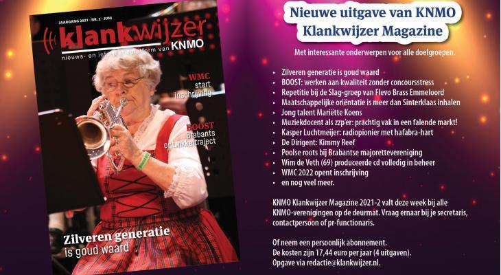 <p>KNMO Klankwijzer Magazine: zilveren generatie is goud waard</p>